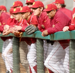 Strike three · USC head baseball coach Frank Cruz was fired Wednesday after allegations of knowingly violating NCAA rules.  - Carlo Acenas| Daily Trojan