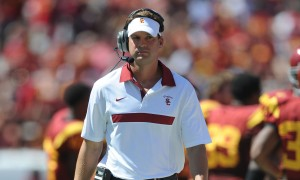 Too stubborn? · Despite disappointing offensive production in 2012, it appears the USC football team will turn to head coach Lane Kiffin for play-calling duties going into the 2013 regular season. - Kelvin Kuo | Daily Trojan