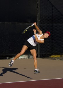 Strong performance · Senior Danielle Lao (above) defeated two top-10 opponents during the ITA National Team Indoor championships. - Joseph Chen | Daily Trojan