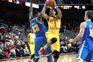 Not this time · USC senior point guard Jio Fontan struggled in Sunday's 75-59 loss to UCLA at the Galen Center, shooting 2-11 from the field and 0-3 from the 3-point line. Fontan scored 15 in USC's Jan. 30 win at Pauley Pavilion. - Ralf Cheung | Daily Trojan