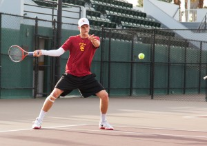 Rock-solid start · Sophomore Yannick Hanfmann (above) and the USC men's tennis team have yet to lose a game this season as they make a run at a fifth straight national championship trophy. - Ralf Cheung | Daily Trojan