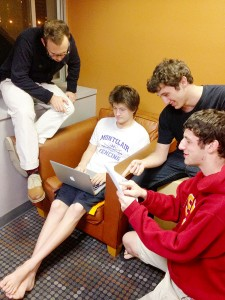 Funny freshmen  · The founders of Sack of Troy, Asher Levy, Axel Hellman, Matt Kalina and Dylan Abrams (left to right) say that they modeled their website after the satiricle website The Onion. — Leigh Jacobson | Daily Trojan
