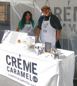 Sweet Tooth · Kristine de la Cruz (left) sets up shop at the Atwater Village Farmers Market. She sells homemade custards and bread pudding. - Elena Valeriote | Daily Trojan