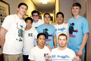 Create your own · Brothers of USC Kappa Sigma show off custom-ordered T-shirts from taggle. The fraternity used the site for spring rush. -  Photo courtesy of Jason Wei