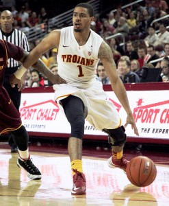 Leadership needed · Senior point guard Jio Fontan scored 13 points in USC's last meeting against Utah. With the suspensions of big men Dewayne Dedmon and James Blasczyk, the Trojans will again turn to their guards.  - Ralf Cheung | Daily Trojan