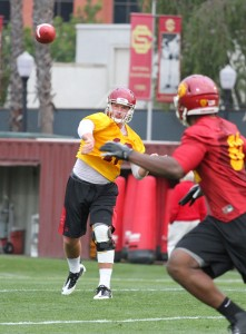 Out of action · Sophomore quarterback Max Wittek (above) did not practice on Tuesday, giving extra reps to Cody Kessler and Max Browne. - Austin Vogel | Daily Trojan