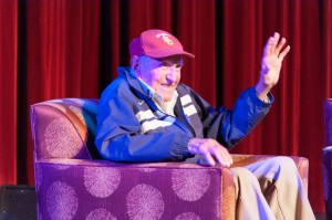 Courage · USC alum Louis Zamperini speaks Wednesday at Bovard Auditorium about how his Olympic and POW experiences shaped his life. - Priyanka Patel | Daily Trojan