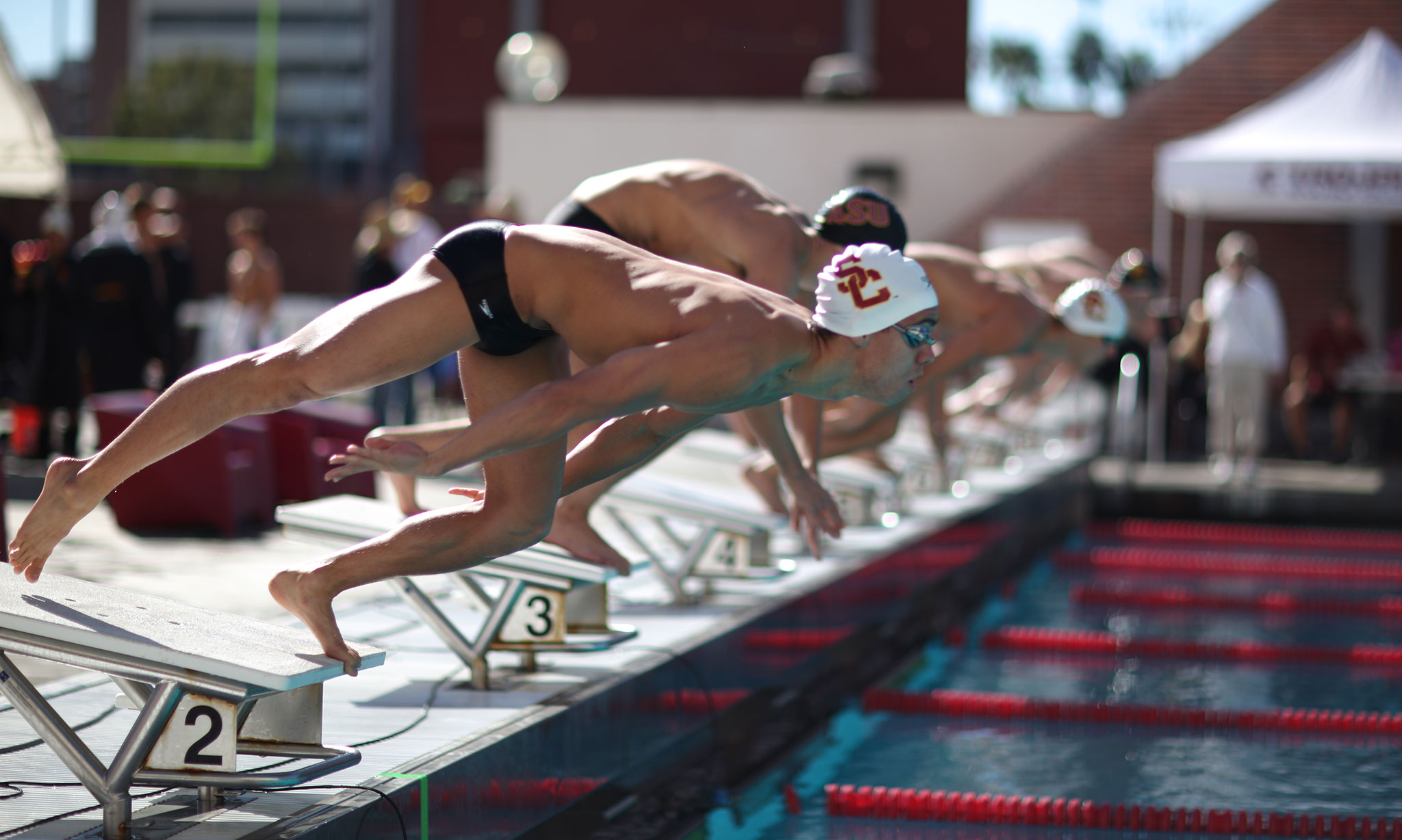 Usc sets records takes fourth at ncaas daily trojan