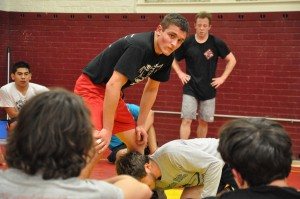 Practice makes perfect · The USC wrestling team was only able to practice twice a week as per Recreation Club Council restrictions. - Photo courtesy of USC wrestling