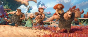 "Caveman rock · A prehistoric family embarks on the world´s first family road trip in The Croods. Once the Croods are out of their cave, their uncivilized natures become pronounced. Be sure to catch the Trojan Marching Band in the opening sequence performing a remix of, what else, ""Tusk."" - Courtesy of 2013 DreamWorks Animation LLC"