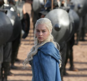 Dragon fire · Daenerys Targaryen (Emilia Clarke), known as the Queen of Dragons because she has three as pets, is rumored to play a large role in this season of Game of Thrones, as she seeks to take the Iron Throne. - Courtesy of HBO