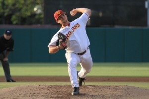 Help needed · Despite a recent improvement in runs scored, USC's pitching still leaves much to be desired. Junior pitcher Sean Silva (above) and the Trojans have the worst ERA (4.80) in the Pac-12 conference this season. - Corey Marquetti | Daily Trojan