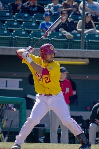 Going, going, gone · Junior catcher Jake Hernandez (above) blasted one of two home runs for the Trojans against LMU during Tuesday's win. - Joseph Chen | Daily Trojan