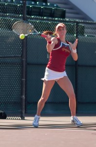 Strong finish · In USC's regular-season finale against UCLA, Christian won both her singles and doubles matches despite battling the flu.  - Ralf Cheung | Daily Trojan