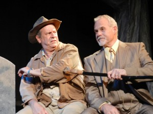 Baggage control · William Jones (Judge Bailey, right) stands out through his energetic, yet brief performances as the judge who oversees the trial of the central figure of Alabama Baggage, the unrepentant John Combs, left. - Courtesy of Doug Dobransky & Nick Weber