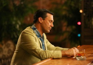 Piano man · Don Draper (Jon Hamm) stays preoccupied with death during the premiere of Mad Men. His dark mood hangs over the episode.  - Courtesy of Michael Yarish