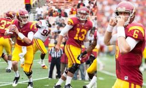 Undeclared · Freshman Max Browne (left) and redshirt sophomores Max Wittek (middle) and Cody Kessler remaining at equal footing in USC's quarterback competition at the conclusion of spring practices. - Ralf Cheung | Daily Trojan