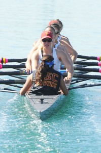 Leading the pack · The No. 1-ranked USC women's rowing team boasts two first-place finishes in 2013 as it nears closer to the postseason. - Courtesty of Dan Avila