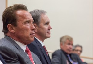 Focus · Arnold Schwarzenegger urged the importance of recognizing climate change on Monday at the Price School of Public Policy. - Ralf Cheung   Daily Trojan