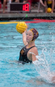 Tripped up · Junior two-meter Colleen O'Donnell scored USC's first goal of its 6-4 loss to No. 2 Stanford on Saturday at Uygtengsu Acquatics Center. - Ralf Cheung | Daily Trojan