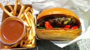 If you build it, they will come · Customers craft their own burger experience at Built, choosing from four proteins (beef, turkey, vegan burgers or chicken breast), six cheeses, four types of buns and a multitude of toppings. - Eddie Kim | Daily Trojan