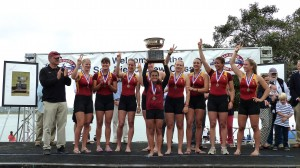 A stroke above the rest · The USC women's rowing team has thrived at the San Diego Crew Classic in recent years, and this year was no different, with the team taking home an unprecedented three trophies. - Courtesy of USC Sports Information