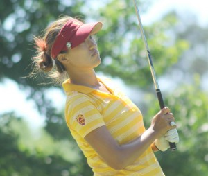 Wunderkind · Freshman Annie Park claimed USC's fourth individual NCAA title with her 10-under-par score at the 2013 NCAA Women's Golf Championships at the University of Georgia G.C. in Athens, Ga. Park was also named 2013 WGCA Player of the Year. - Courtesy of USC Sports Information