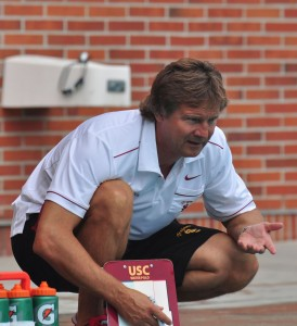 Lead the way · USC head coach Jovan Vavic has now won the Mountain Pacific Sports Federation coach of the year award a total of 10 times. He's also been named the national coach of the year 11 times. - Ralf Cheung | Daily Trojan