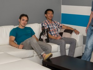 Silicon Beach Boys · Buzzmob Founder and CEO Jeff Jackel (left) based his start-up in Irvine, California. The location enabled him to focus development between Los Angeles and Orange County. - Courtesy of Buzzmob | Daily Trojan