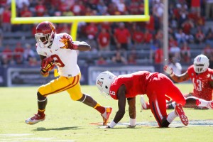 Breaking away · USC receiver Marqise Lee, who holds the Pac-12 single-season receptions and receiving yards records, won the 2012 Biletnikoff Award as the nation's top receiver and is a legitimate Heisman contender in 2013. - Daily Trojan File Photo
