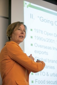"Scramble for Africa · Johns Hopkins University School of Advanced International Studies Professor Deborah  Braütigam speaks to students in a presentation titled ""'Feeding Frenzy': China, Africa and the 'Great Land Grab.'"" - Ralf Cheung 