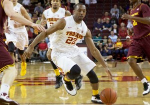 Moving forward · After starting in the backcourt for two years, junior Byron Wesley will be relied upon as a leader this season. - Ralf Cheung | Daily Trojan