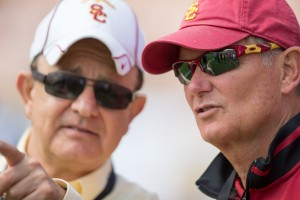 Reflecting on the past · USC athletic director traveled to Indianapolis on Wednesday to meet with the NCAA about USC's football sanctions. - Ralf Cheung | Daily Trojan