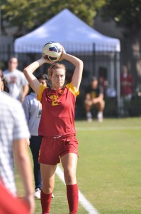 Stand strong · USC sophomore defender Marlee Carrillo anchored the Women of Troy's backline that only allowed just two goals in two matches. - Chris Roman | Daily Trojan