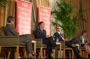 Laying down the law · Goodwin Liu, the associate justice of the California Supreme Court, speaks about the state of the Supreme Court at a panel hosted by the USC Gould School of Law on Tuesday evening at Town and Gown. - Ralf Cheung | Daily Trojan