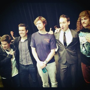 Funny guys · SCOMEDY founder Jack Michelman, second from right, poses with the stars of Comedy Central's hit TV show Workaholics. - Photo courtesy of Jack Michelman