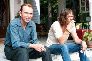 Sputtering with emotion · Billy Bob Thornton (left) and Kevin Bacon (right) play Skip and Carroll Caldwell, respectively, in Jayne Mansfield's Car, a drama about a family of war veterans living in Alabama.  - Courtesy of AR Films
