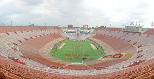 New territory · USC's game against Arizona will be the first time the team has played at the Los Angeles Memorial Coliseum on a Thursday during the BCS era. All classes will operate on their normal schedules. - Ralf Cheung | Daily Trojan
