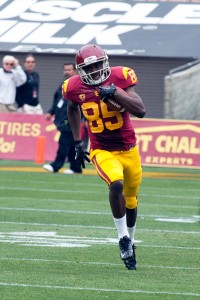 New faces · Redshirt sophomore receiver Victor Blackwell has been getting starter reps despite having only three career receptions. - Ralf Cheung   Daily Trojan