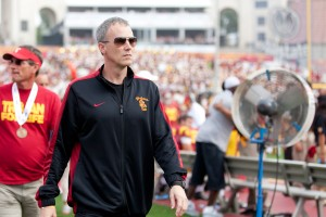 Hands on approach · Part of USC's men's basketball coach Andy Enfield's new job is drumming up interest in the team as he inherited a program with apathetic fans left hopeless by former head coach Kevin O'Neill. - Ralf Cheung | Daily Trojan