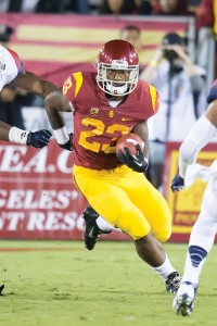 Shoulder the load · Sophomore running back Tre Madden has been among the Trojans' most valuable players thus far this season. - Ralf Cheung | Daily Trojan