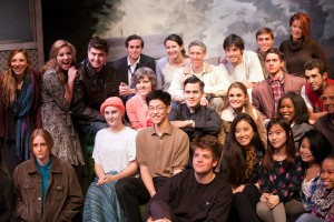 Dramatic bunch · The cast of the student production of Infinite Black Suitcase is looking forward to performing in the McClintock Theater tonight. The performances will run each night through Nov. 3. - Ralf Cheung | Daily Trojan