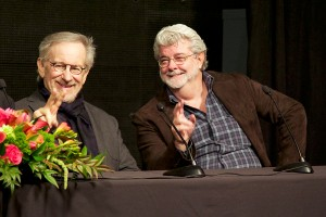 Genius loves company · Steven Spielberg (left) and George Lucas pose at a recent visit to USC's campus. Spielberg was at the Arclight Hollywood to celebrate the 50th anniversary of the Arclight Cinerama Dome. - Ralf Cheung | Daily Trojan
