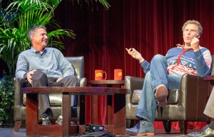 Trojan Family mentors · USC alumni Will Ferrell and Craig Pollard share their careers, lifelong friendship and personal philosophies with students on Monday at Bovard Auditorium. - Ralf Cheung | Daily Trojan