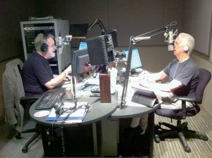Ham radio · KUSC's classical music experts Rich Capperela and Jim Svejda crack jokes during their Thursday broadcast, the kickoff of the station's fall membership drive to attract sponsors to the program. - Photo courtesy of Gail Eichenthal