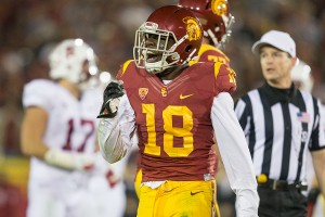 Back in the game · Redshirt junior safety Dion Bailey intercepted a pass to halt a dangerous Stanford drive last Saturday. The secondary will be tested again this weekend by Colorado wide receiver Paul Richardson. - Ralf Cheung | Daily Trojan