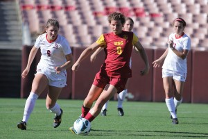 Finishing strong · Senior forward Elizabeth Eddy completed her illustrious career at USC by leading the Women of Troy in goals (5) this season. Eddy finishes her time at USC with 16 goals and nine assists. - Nick Entin | Daily Trojan