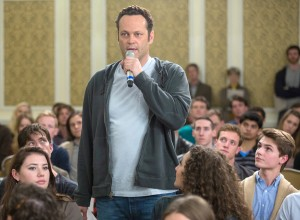 Underachieving · Vince Vaughn plays David Wozniak, a meat truck driver who finds himself $100,000 in debt to the mob. Delivery Man is buoyed by Vaughn's hilarious performance as a slacker with a heart of gold. - Courtesy of Dreamworks Pictures