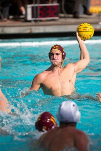 Hard-fought · Senior two-meter Connor Virjee netted one goal in USC's 10-8 win over Long Beach State at the Uytengsu Acquatics Center. - Ralf Cheung | Daily Trojan