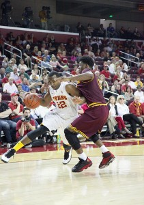 Steady · Junior wing Byron Wesley has started every game except for one during his career at USC, and averaged 10.2 points last season. - Ralf Cheung | Daily Trojan